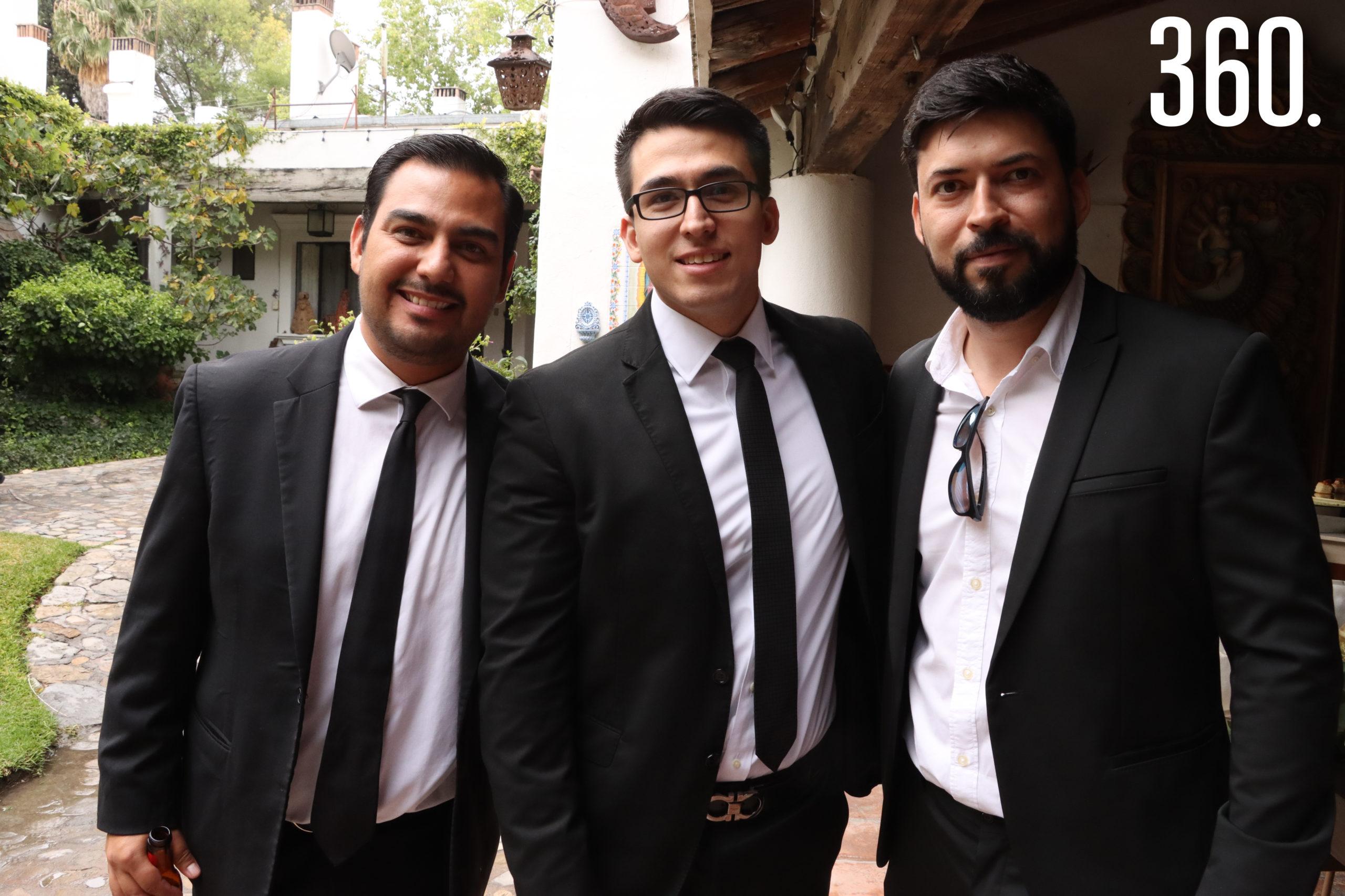 David Narro, Irving Escobedo y Roberto Leal.