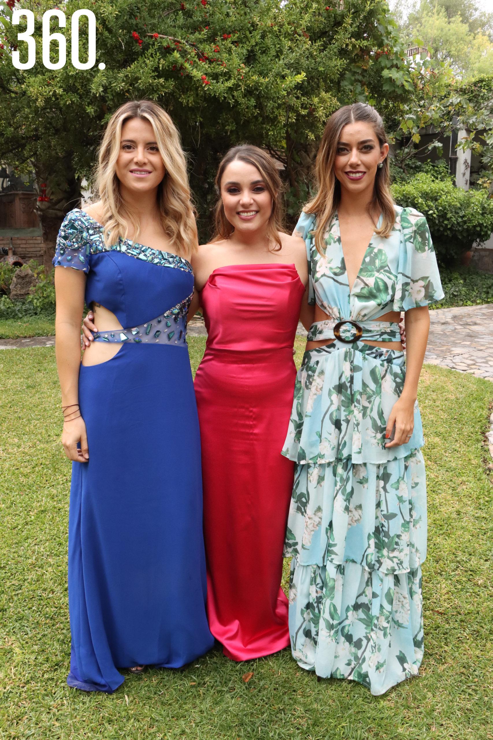 Diana Gómez, Diana Suárez y Claudia Yates.